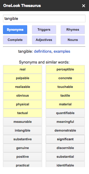 Thesaurus Google Docs OneLook Thesauru...